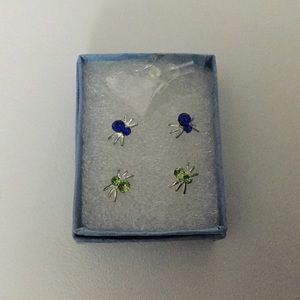 Spider earrings set of 2